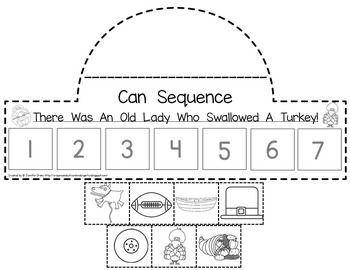 Old Lady Swallowed A Turkey Listening Response Sequencing Reader