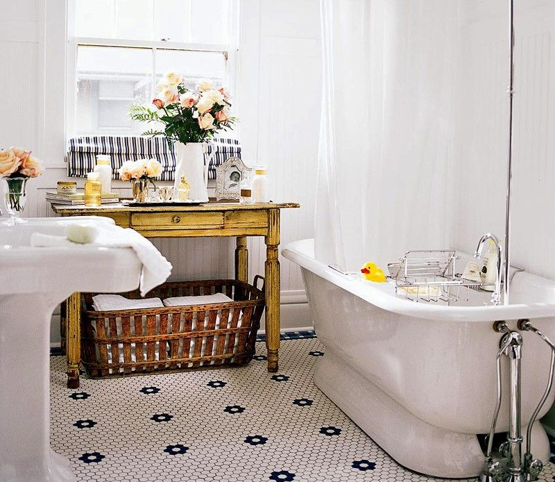 vintage style bathroom decorating ideas tips - Bathroom Accessories Vintage Look