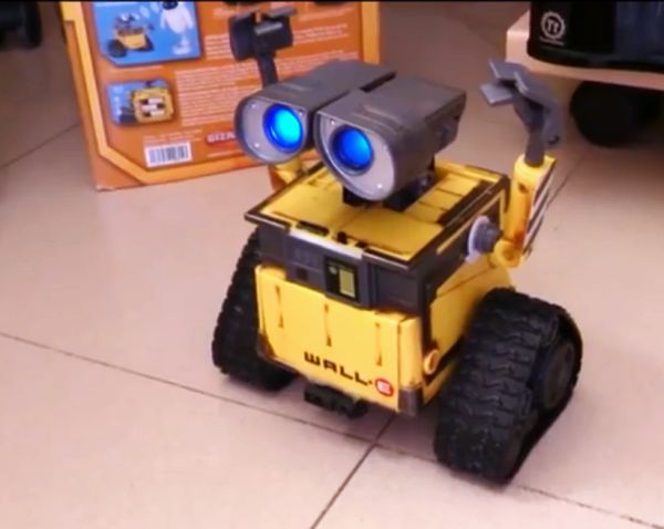 Robotic pet arduino controlled wall e robot responds to