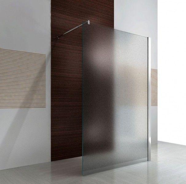 Duschabtrennung Walk-In Nano Echtglas EX101 - Milchglas - Breite