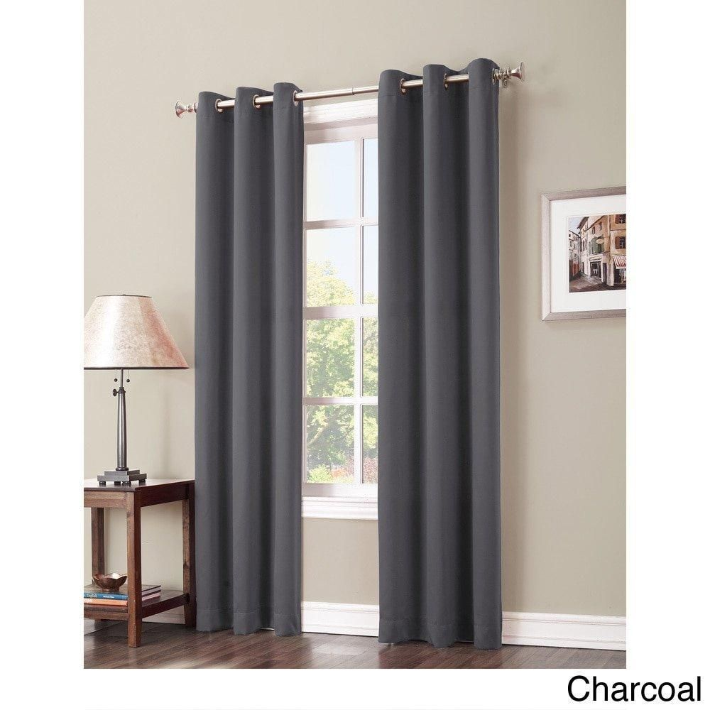 curtain kitchen blackout dark home dp blue amazon single panel window fresno com eclipse inch by