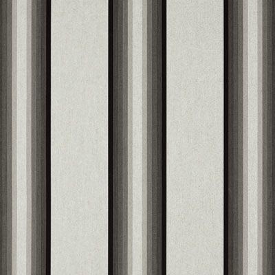 "Sunbrella Awning / Marine 46"" Gray/Black/White Fabric ..."