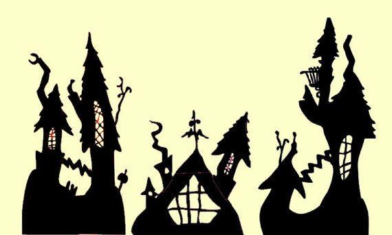 Halloween Town Nightmare Before Christmas Wall Decal Mural 5