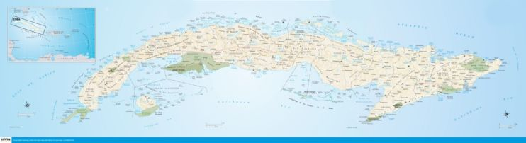 Large detailed road map of Cuba Maps Pinterest