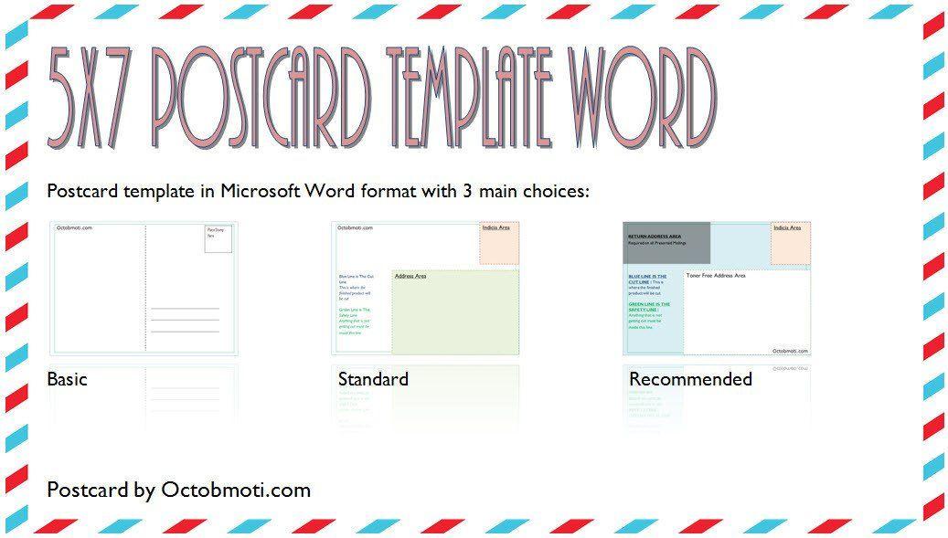 5x7 Postcard Template For Word 5x7 Postcard Template For Word Back Standard Usps Free Postcard Template Templates Greeting Card Template