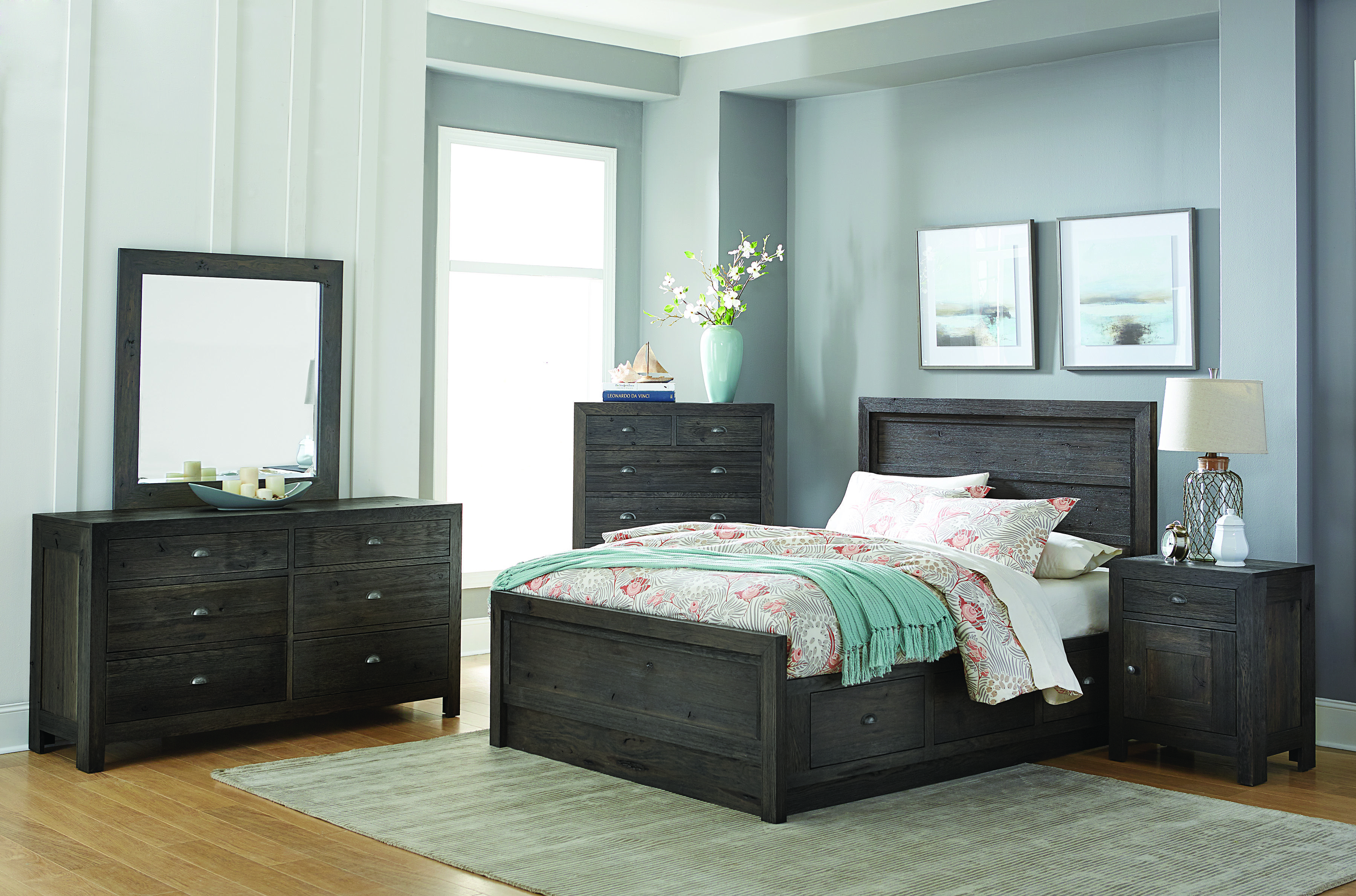 The Sonoma Bedroom collection features solid flat panel sides and ...