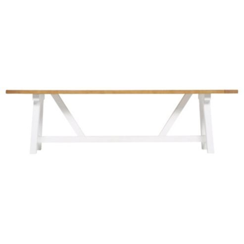 Pleasant 99 At Tesco Portobello Trestle Bench White Bleached Pine Gmtry Best Dining Table And Chair Ideas Images Gmtryco