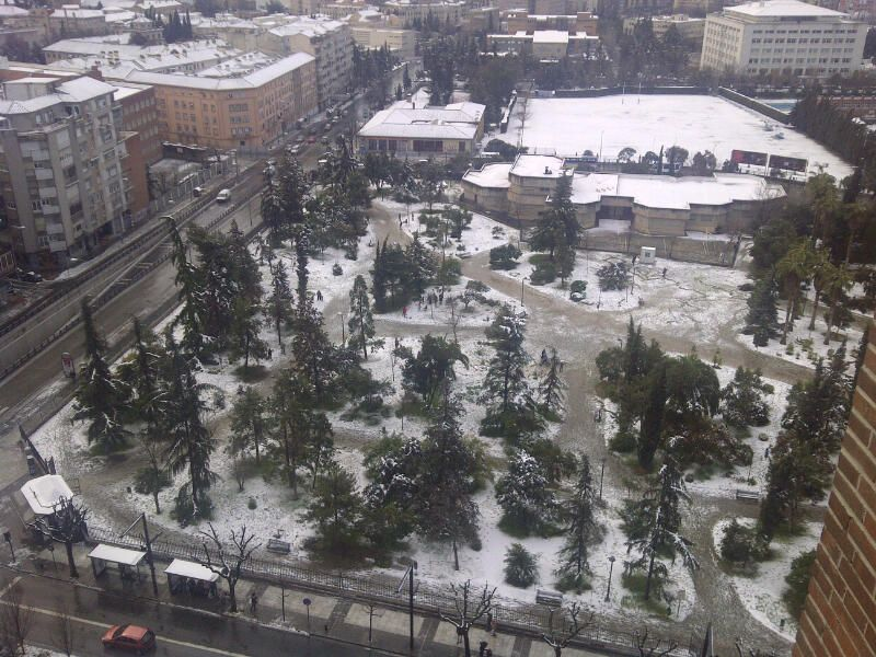 Nieve En Granada Vistas Desde El Vincci Albayzín 4 Vistas Nieve Granada