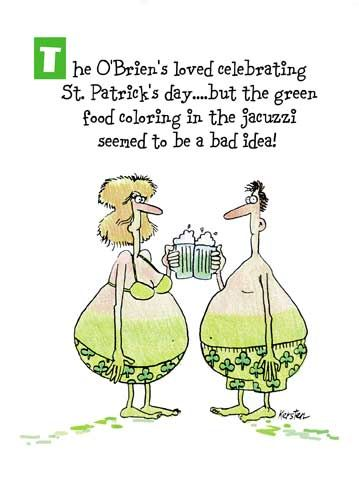 Green Dye Funny St. Patricks Day Card St patricks day