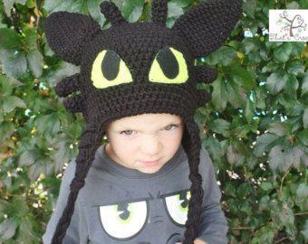 Wie Ihre Drachen Ohnezahn Zug Hut Kinder Der Hut Bonnet Nacht