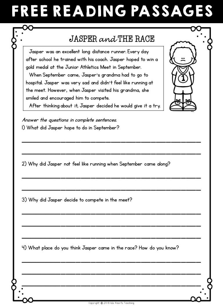small resolution of Second Grade Reading Comprehension Passages and Questions (FREE SAMPLE)    Free reading passages