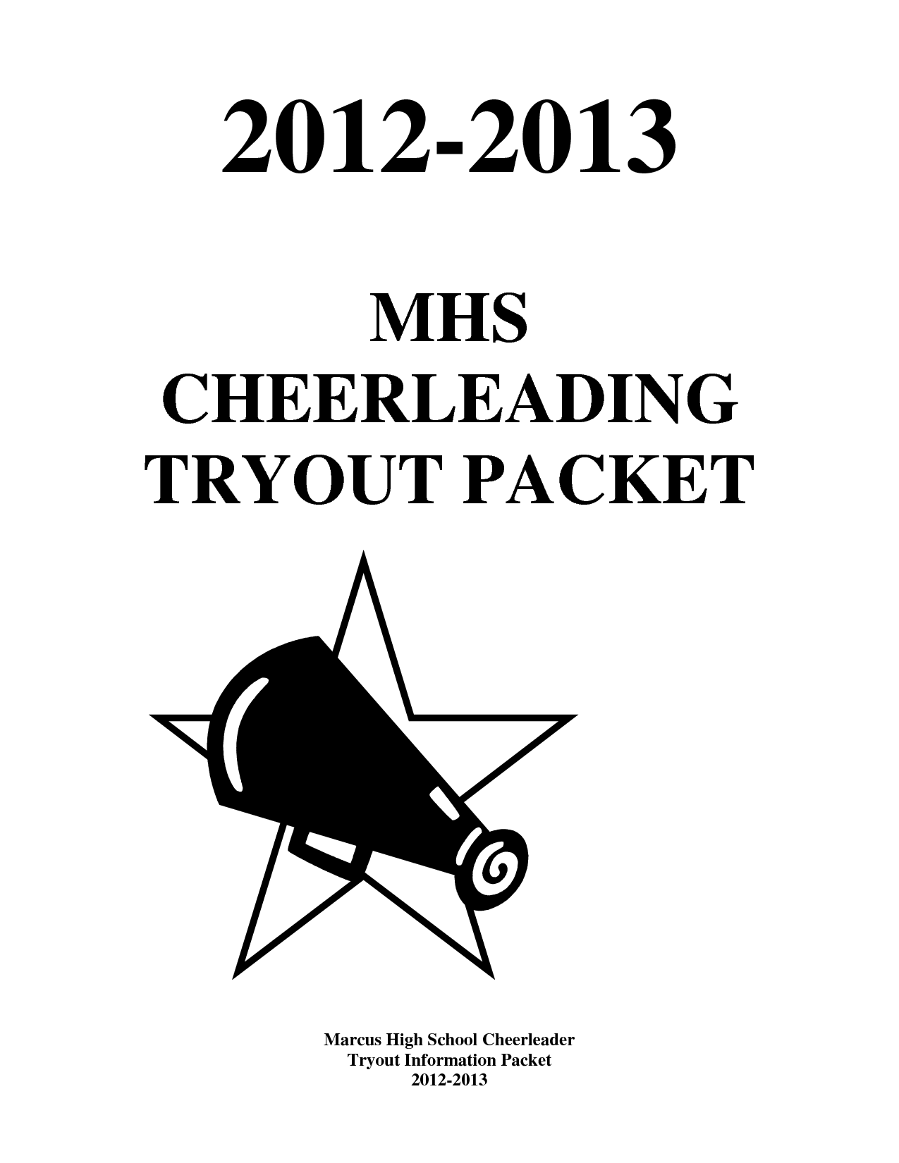 Cheer Tryout Packet  Final By Xuyuzhu  Cheerleading