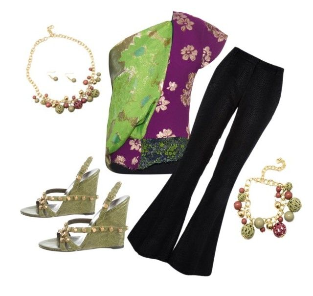 """""""www.paparazziaccessories.com/40334"""" by tonya-makeithappen-davalt on Polyvore featuring Marques'Almeida, River Island and Balenciaga"""