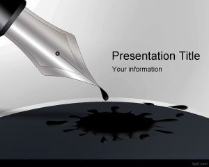 Black ink pen powerpoint template is a free ink powerpoint black ink pen powerpoint template is a free ink powerpoint template for presentations that you can toneelgroepblik Gallery