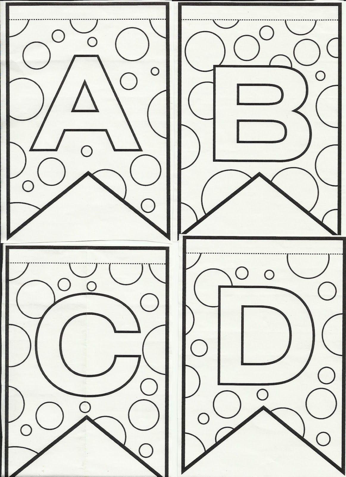 Blog Professor Zezinho Letras Do Alfabeto Bandeirinhas De Festa