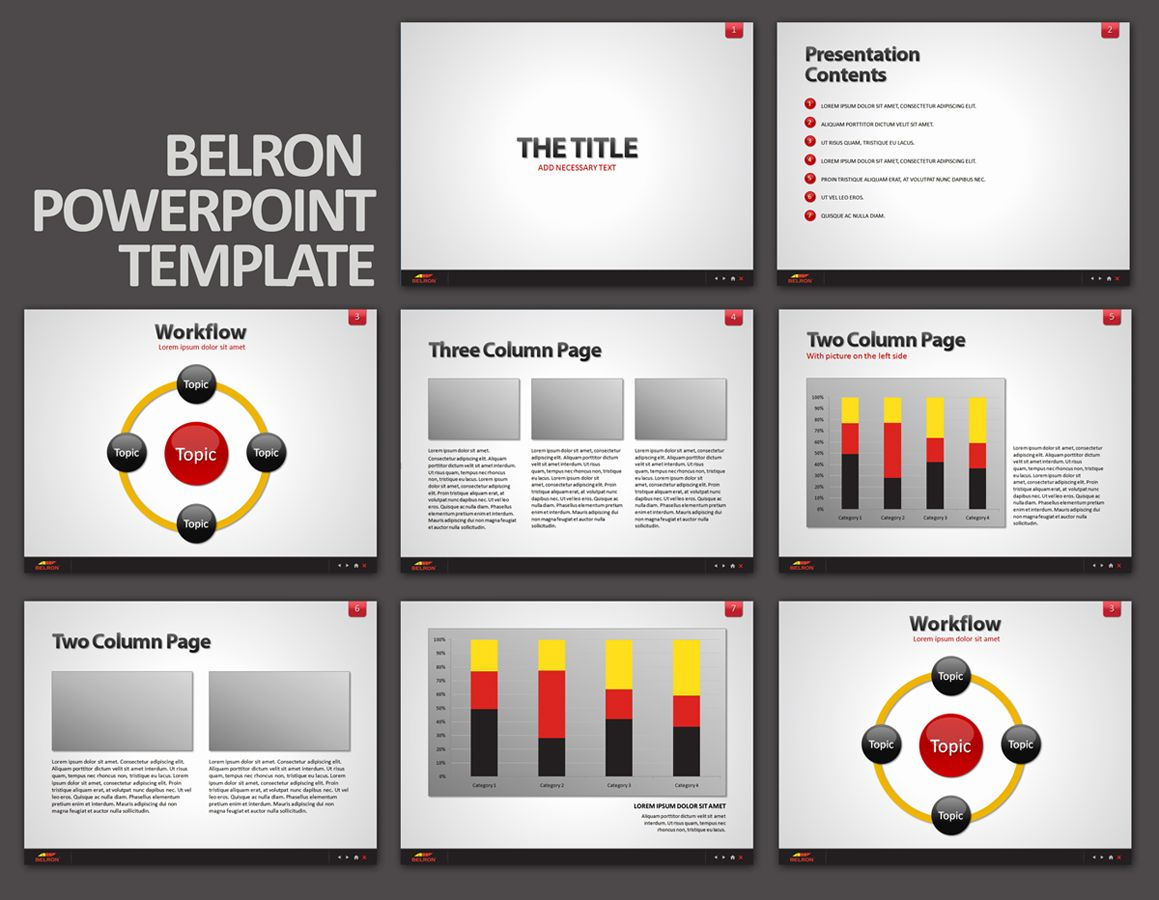 by kuligrafik for Belron corporate #powerpoint template | designer ...