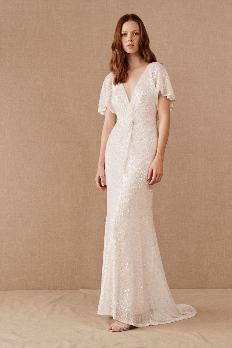 Flutter Sleeve Vintage Wedding Dress Casual Wedding Dress Short Sleeve Wedding Dress Dresses