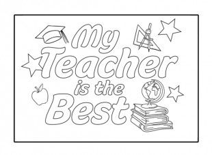 best teacher coloring pages - photo#26