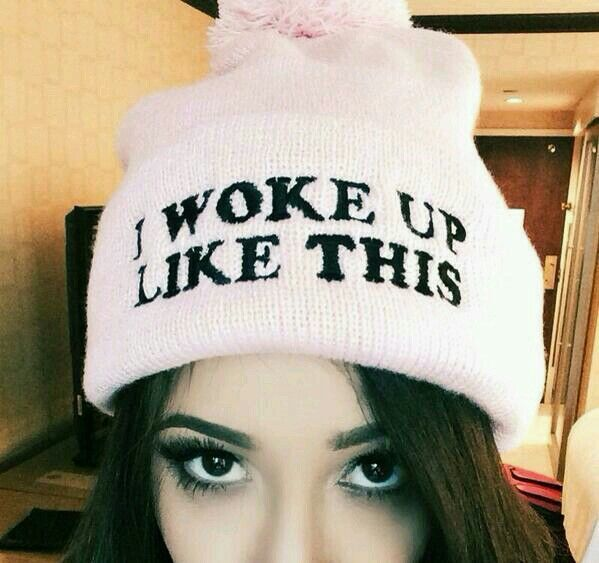 """Dani with her """"I Woke Up Like This"""" beanie from Jawbreaking ❤ Her gorgeous eyes though aw ❤"""
