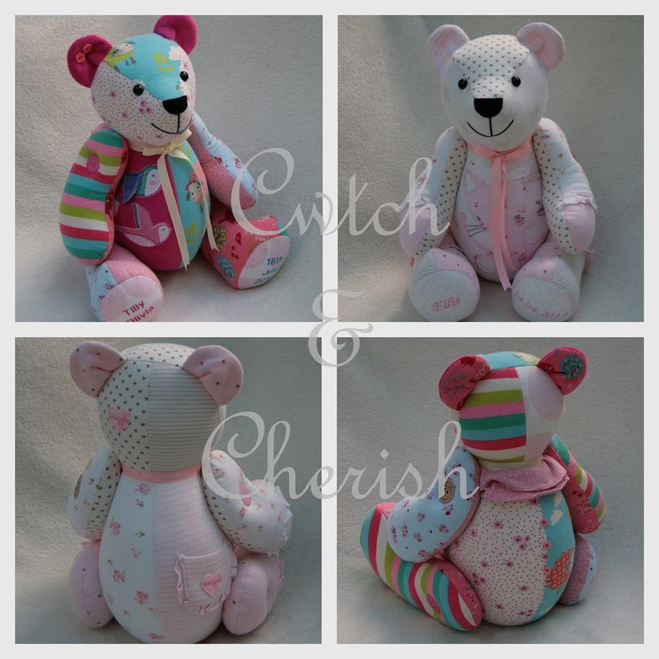 memorybears Turn baby grows into a teddy