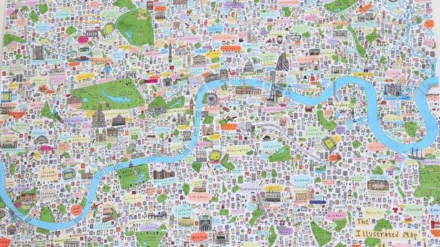 This is new illustrated map of London (second edition) by House of Cally, featuring even more places of cultural interest (from the well-known to the obscure). The comprehensive nature of the piece means you will spot something new each time you look at it. The map is bright and fun and would be a fantastic addition to any home or workplace.  Great for anyone that lives in or loves London!    Artwork by Cally Lathey  Film