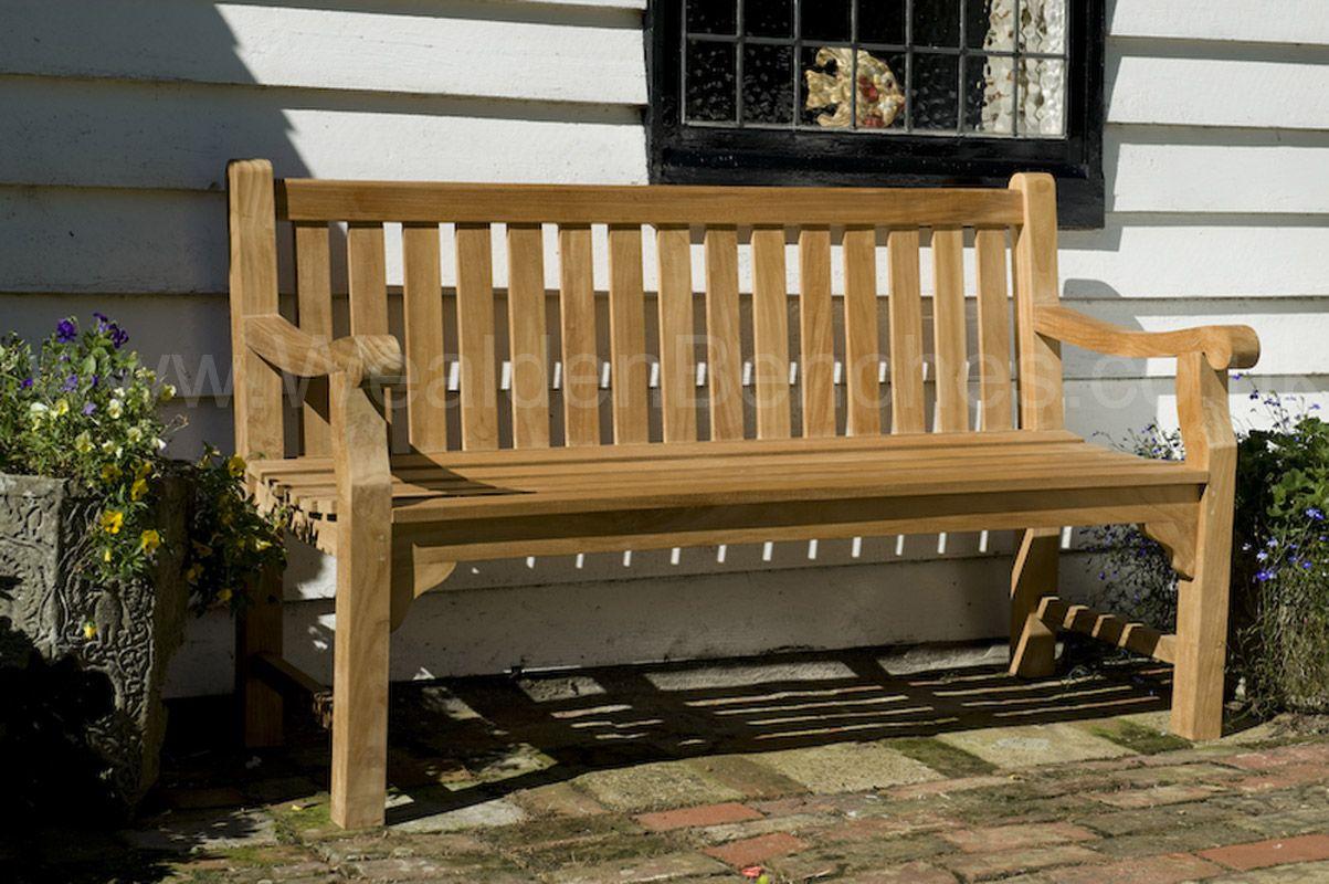 Teak Garden Bench 3 Seat Sandhurst (With images)   Garden ...
