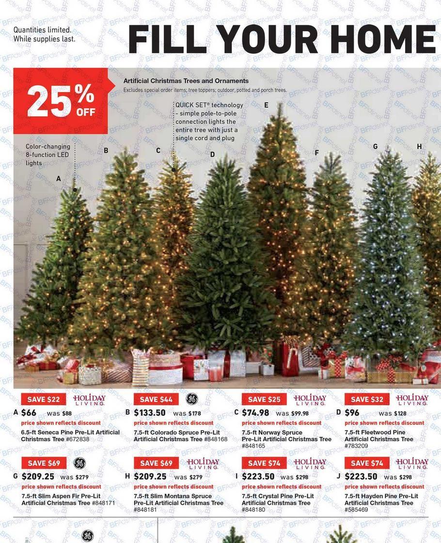 black friday artificial christmas tree sales 2016 home accents - Black Friday Artificial Christmas Tree Sales