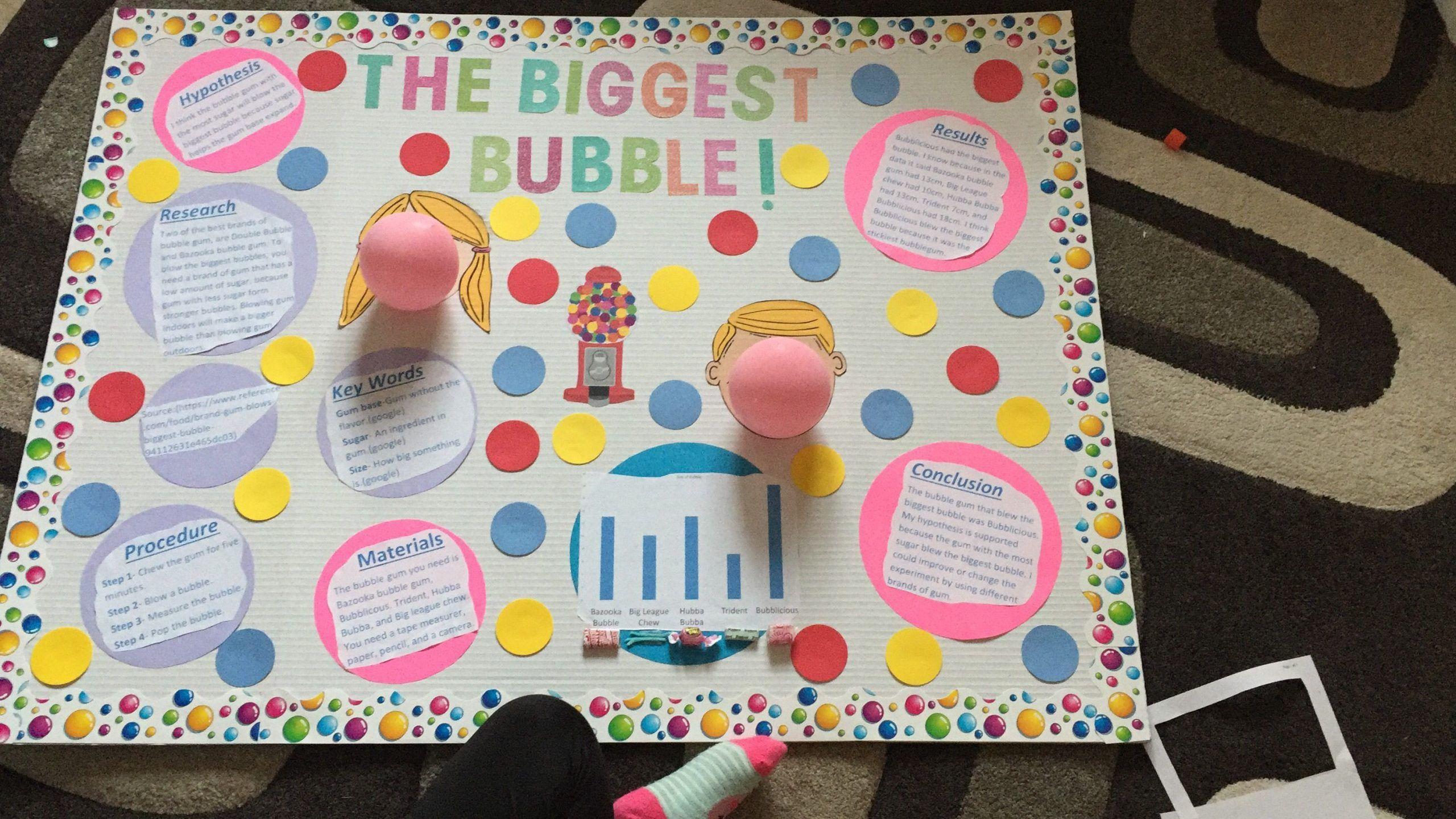 Bubble Gum Math Worksheets Bubble Gum Experiment In