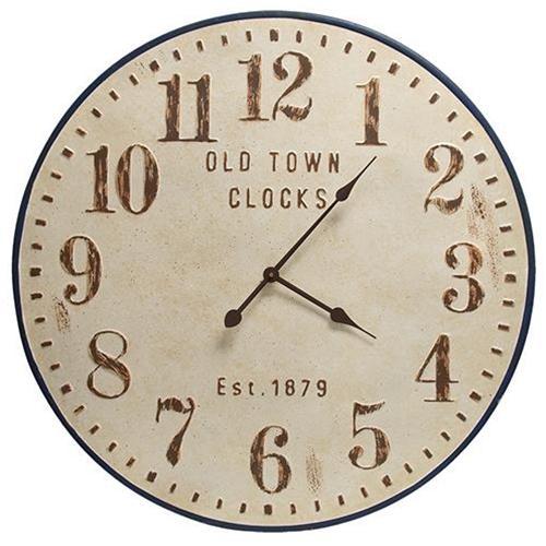 Distressed Old Town Metal Clock Metal Clock Metal Wall Clock Clock