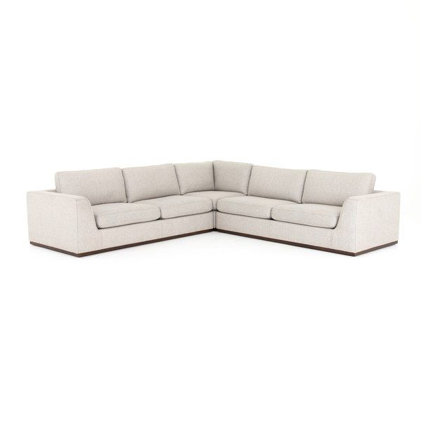 Remarkable Living Room Colt 3 Piece Sectional Aldred Silver 120X120 Pabps2019 Chair Design Images Pabps2019Com