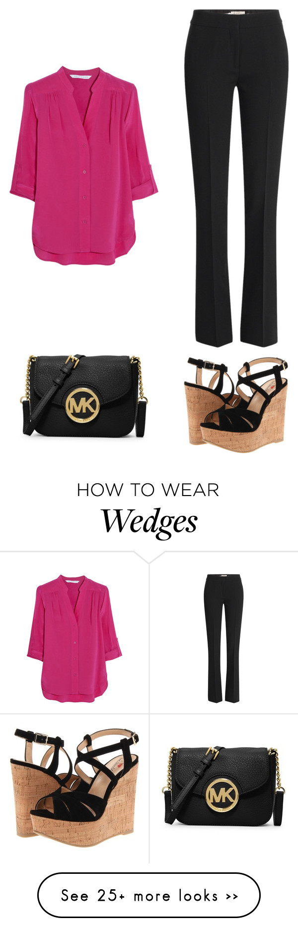 """Look#6_VD_wk1"" by glamupparties on Polyvore featuring Diane Von Furstenberg, MICHAEL Michael Kors, Luichiny and Emilio Pucci"