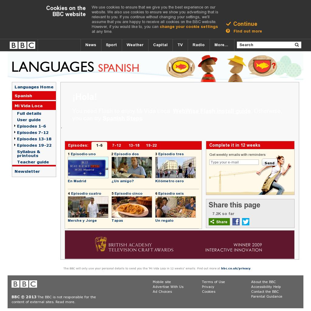 Página de la BBC, snapped on Snapito!