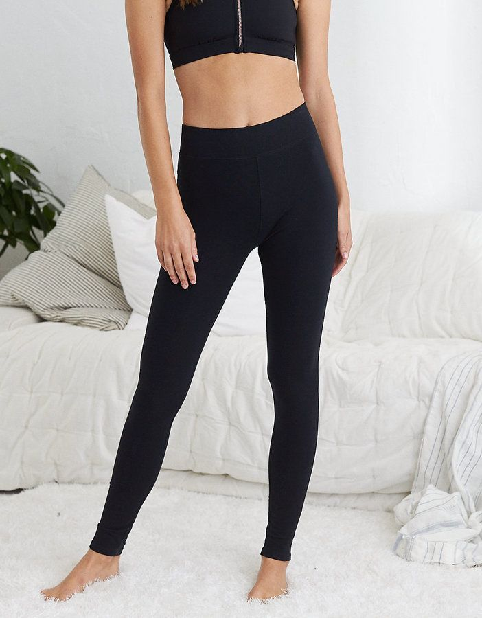 bf56d735319b4 Aerie Chill High Waisted Legging, True Black | Products | Women's ...