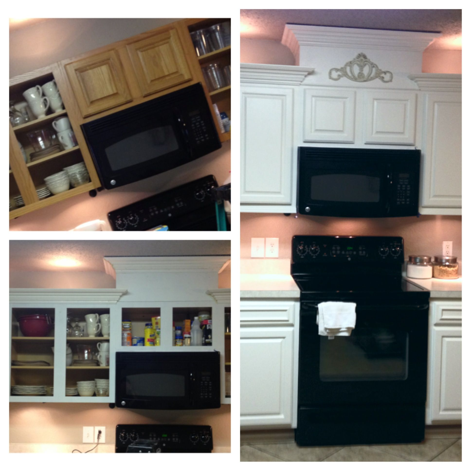 DIY Kitchen Cabinet Redo. From Boring Builder Grade