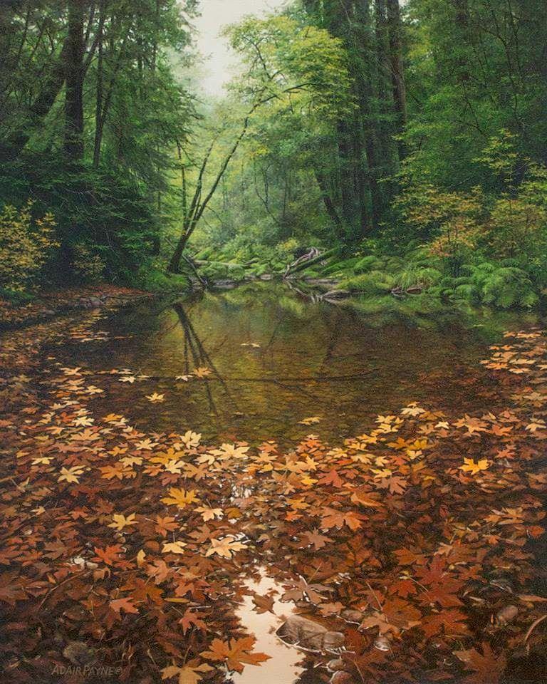 ADAIR PAYNE - Fim de outono Óleo sobre tela - 76,2 x 60,96