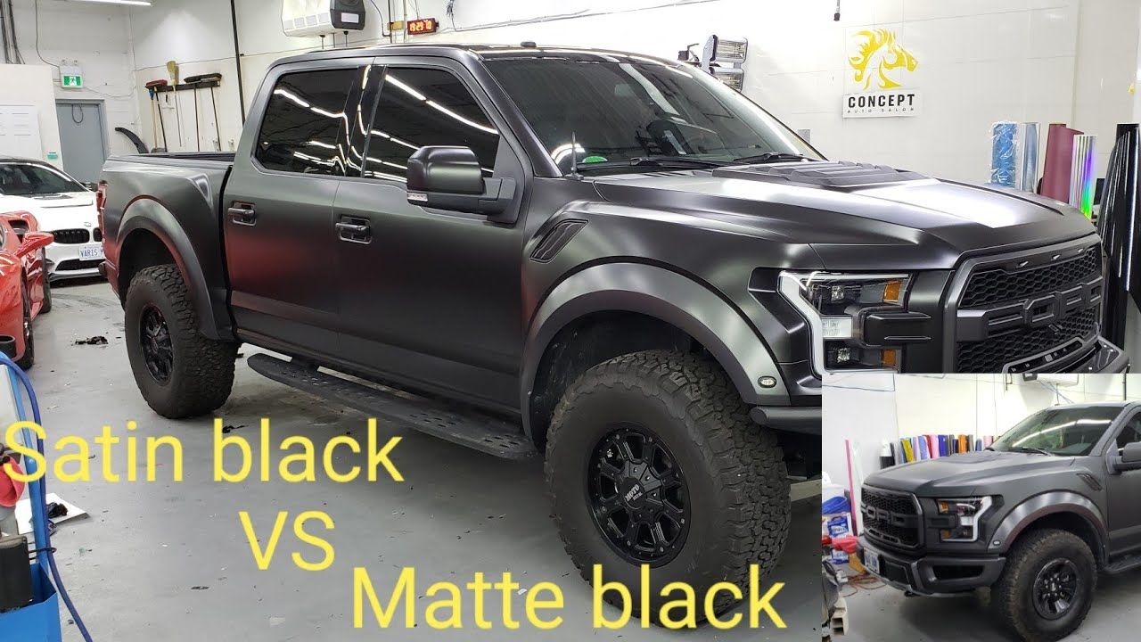 Satin Black Vs Matte Black Ford Raptor Which One Do You Like Youtube Black Ford Raptor Ford Raptor Matte Black