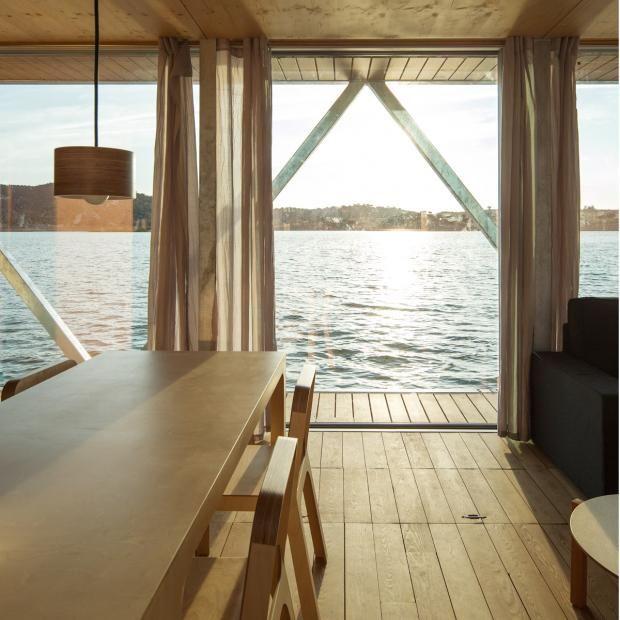 """Wohnen auf dem Wasser Hausboot """"Floatwing"""" Hausboot"""