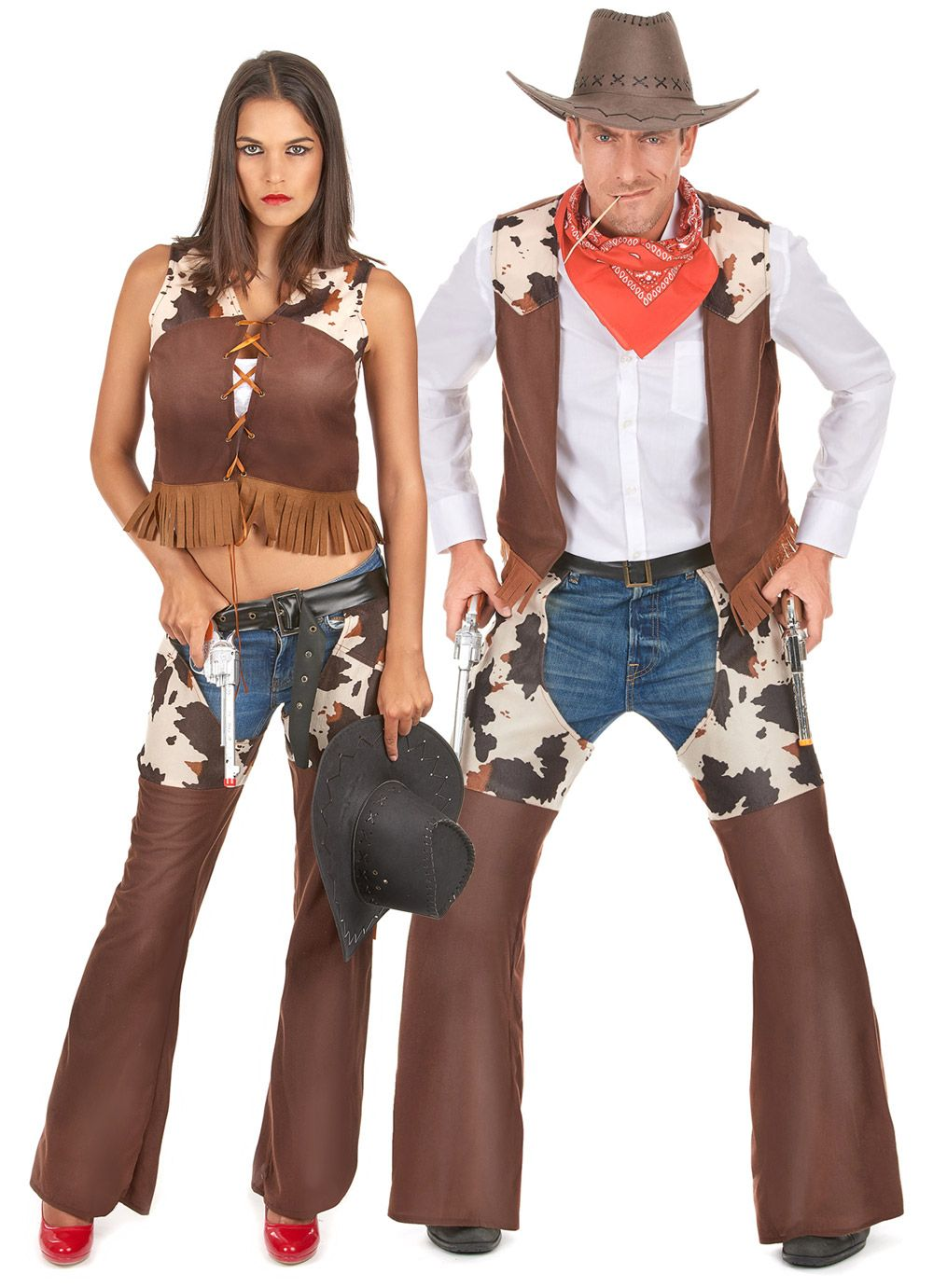 Disfraz de pareja cowboy adulto  Disfraz de cowboy hombreEste disfraz de  cowboy para hombre incluye chaleco y cubre pantalón (sombrero 10f8ad5b9d0