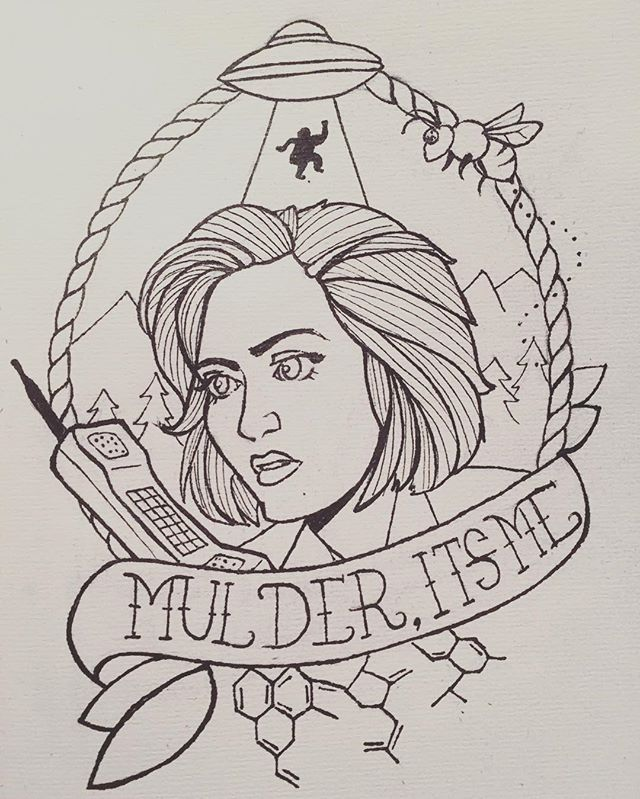 Distracting Myself With X Files Tattoo Doodles Scully Xfiles