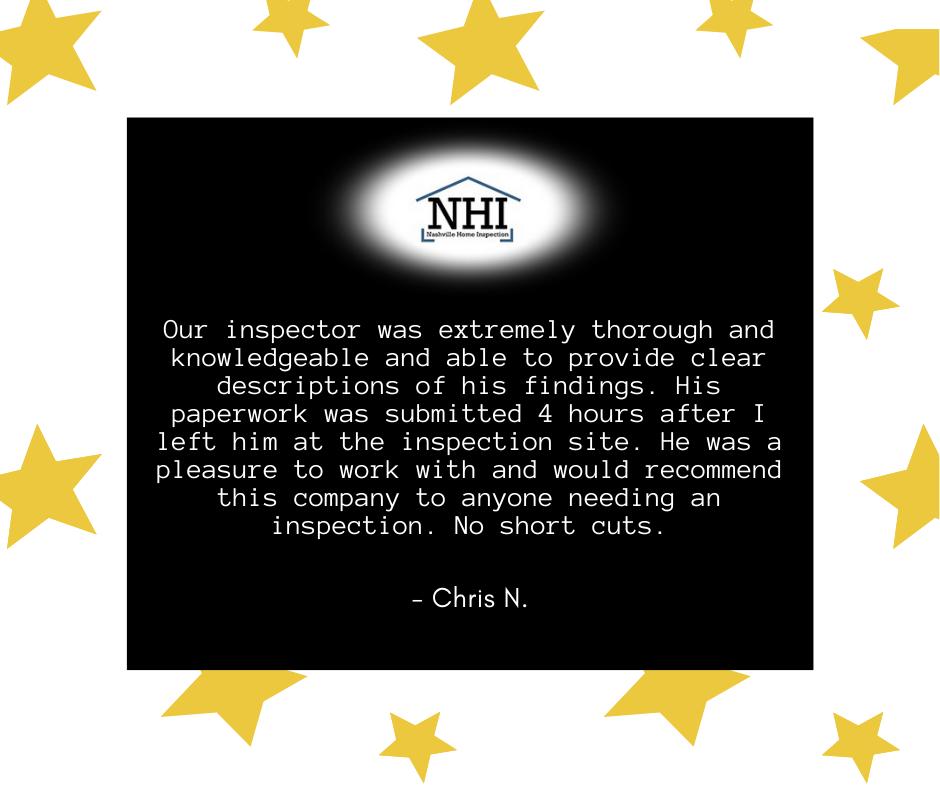 Nashville Home Inspection Wilson County Terrific Five Star Review By Chris N Words Knowledge Reviews