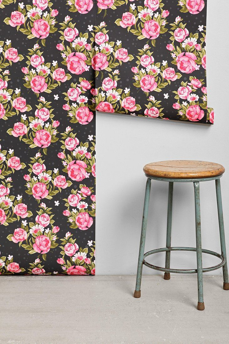 Walls Need Love Roses Removable Wallpaper Urban Living Room Haus