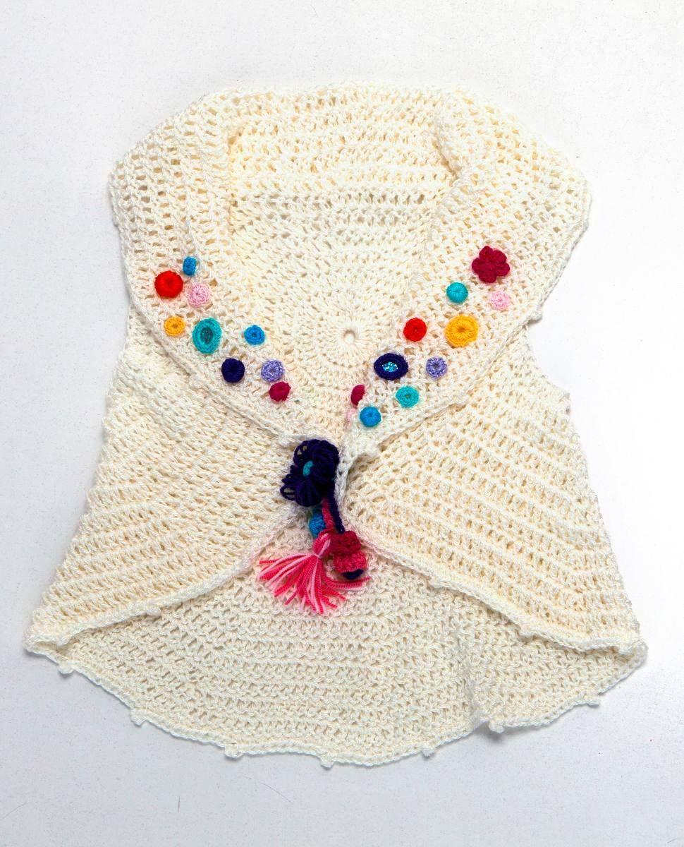 Chaleco Tejido A Crochet Para Niñas!! - $ 120,00 en MercadoLibre ...