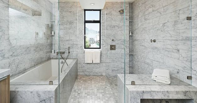 Images About Bathroom Remodel On Pinterest Vanities Carrara Marble And Marble Bathrooms