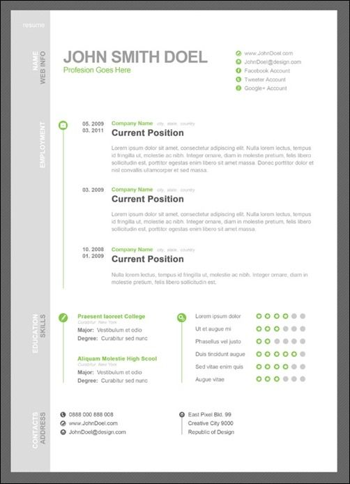 Cv Resume Psd Template Thumb  Amazing Resume Psd Template