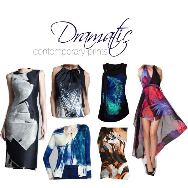 """Dramatic contemporary prints"" by theluxejunkie on Polyvore"