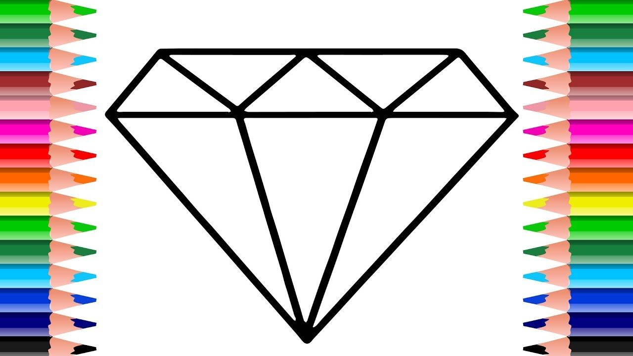 Diamond Coloring Page How to Draw a Sparkling Color