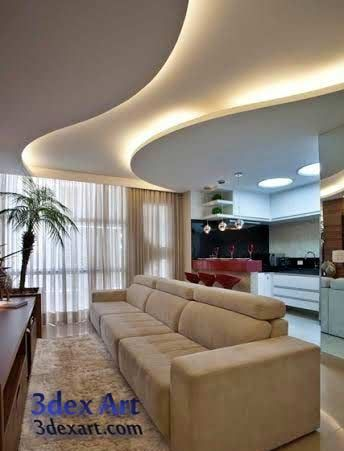 Modern false ceiling designs for living room and hall with lighting ideas new also faux plafond pratique et esthetique interior design pinterest rh