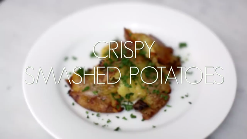 Get smashed with this Crispy Smashed Potatoes Recipe