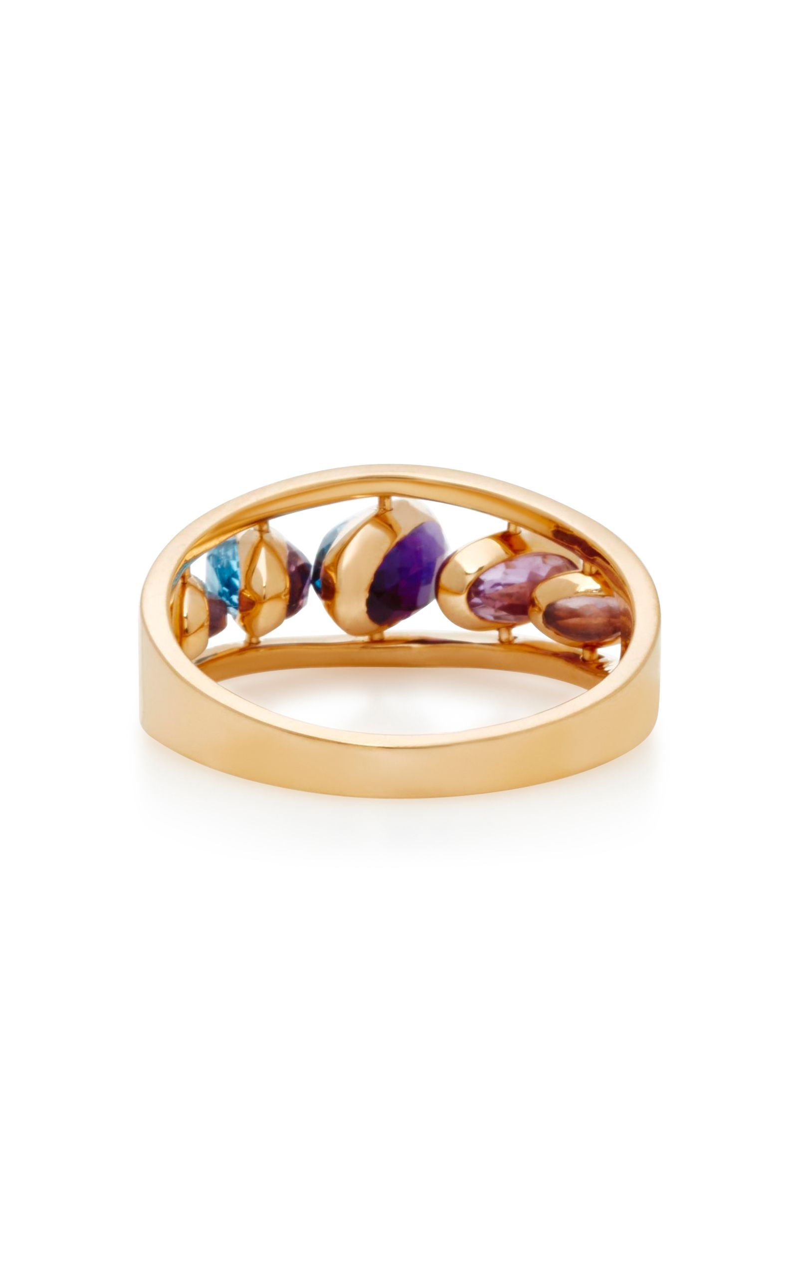 Amethyst, topaz & pink-gold bangle Marie Mas
