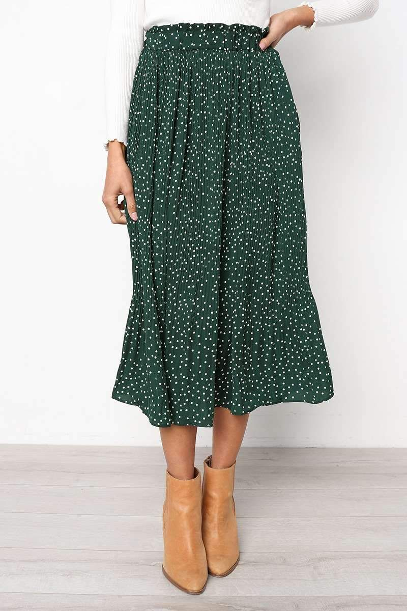 Fashion Point Drape Long Skirt
